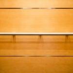 Close Up wall panel edge trim & round handrail -- EPIC Solution elevator interior design model #GR601e at the new Minnesota State Legislative Office