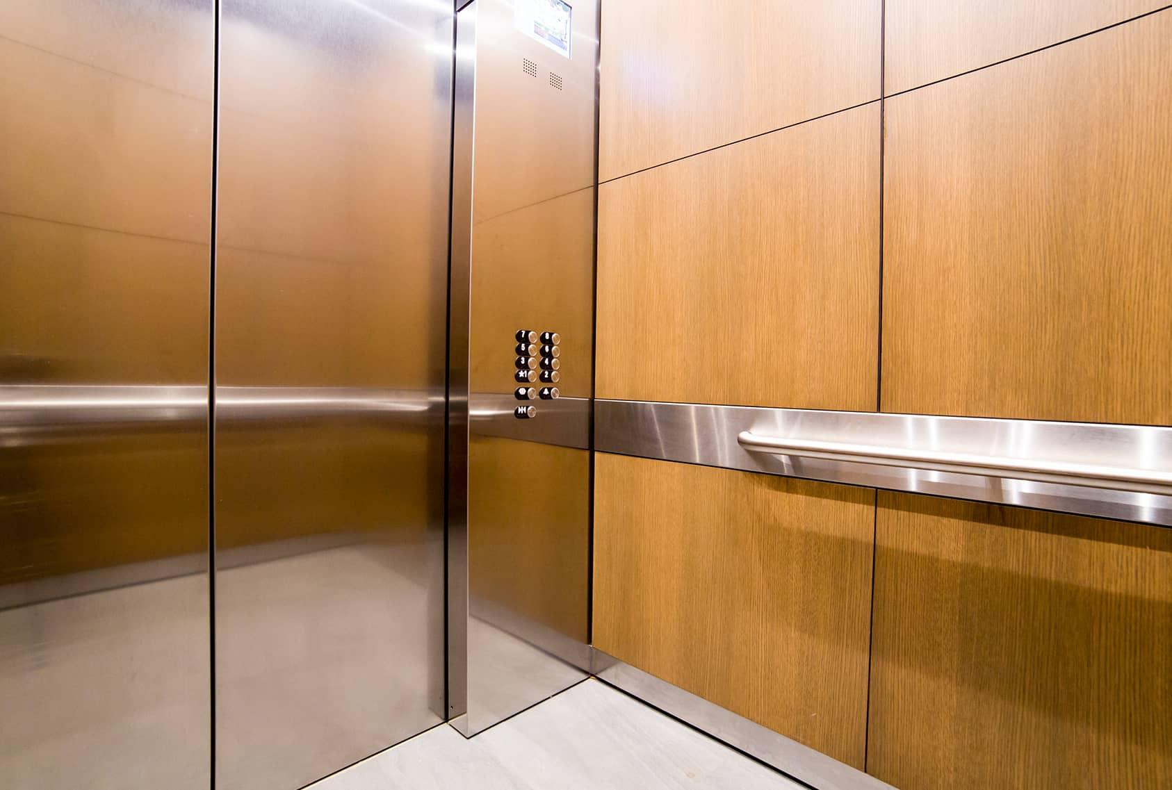 Stainless Steel Elevators : Hyatt hotel g r custom elevator cabs