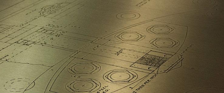 custom etching on elevator wall panel wall