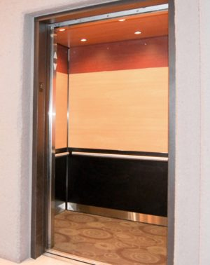 Image of EPIC Solution GR602e elevator interior design at Double Tree Hotel, St. Paul MN