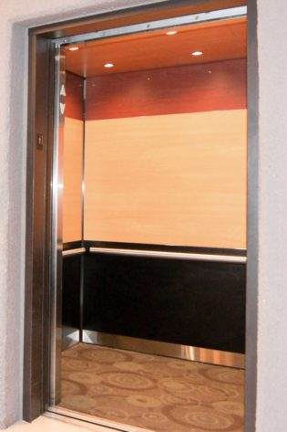 Image of EPIC Solution #GR602e elevator interior design at Double Tree Hotel, St. Paul MN