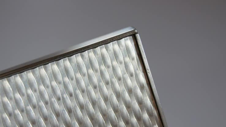 Photo A: Edge Binder Angles made from 16-gauge Stainless Steel.