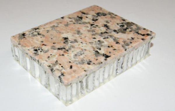 Backside of Aluminum honeycomb panel backer