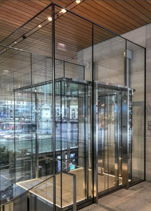 Glass Observation Cab: Tech Retail