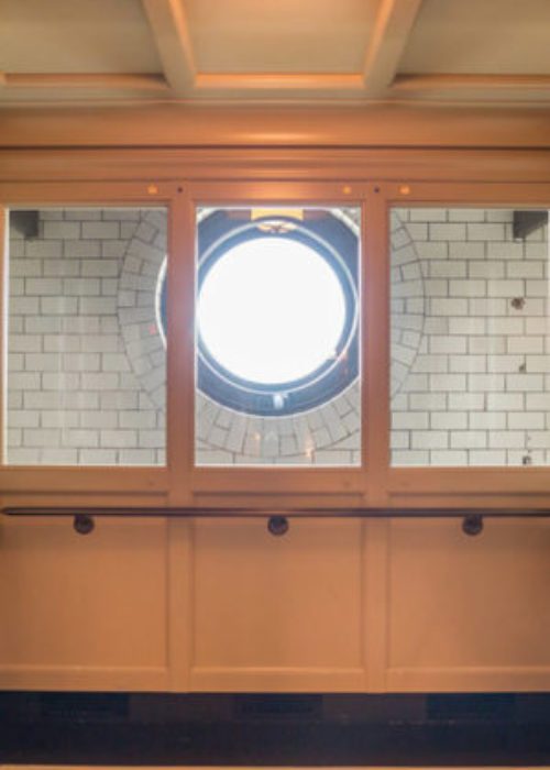 Glass Observation Cab (Partial): Minnesota State Capitol Rotunda