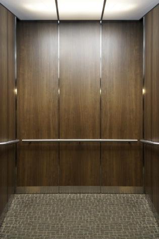 Elevator Cab Modernization Walker Plaza (Wall design #GR501e) | Anoka, MN. © G&R Custom Elevator Cabs, 2352 Station Parkway NW Minneapolis, MN 55304